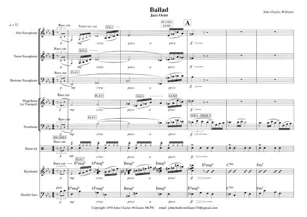 Ballad score sample